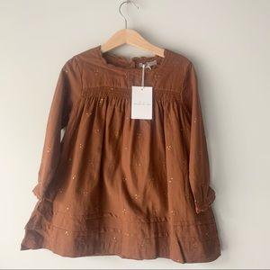 Emile Et Ida Dots Embroidered Dress